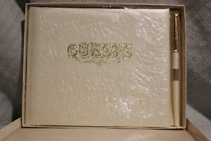 VINTAGE HALLMARK Ivory Embossed WEDDING GUEST ALBUM ALB3096