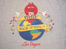 M&M's World Candy Shop Las Vegas Vacation Souvenir Color My World T Shirt M