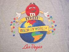 M&M's World Candy Shop Las Vegas Vacation Souvenir Color My World T Shirt M