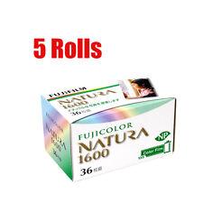 5 Rolls FUJIFILM 1600 NATURA 1600  35mm 135-36 Color Negative Film Fresh 05/2019