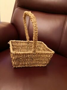Woven Wicker Handle Basket Storage Prop, small New