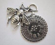 1 Abeille Horloge Charm/Pendentif - 42 mm-argent antique