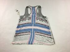 Women's P.J. Salvage Shirt Tank Top Sleeveless Size M Medium Gray Striped #116