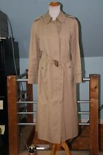 Classic Burberry Khaki Twill Belted Trench Coat US 10L Zip out wool liner