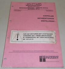 Werkstatthandbuch XU10J2Z Einspritzung Motronic BOSCH MP3.1 Peugeot 605 12/1990