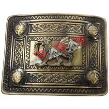 Kilt Belt Buckle Welsh Dragon Brass Antique Finish Highland Kilt Belt Buckles