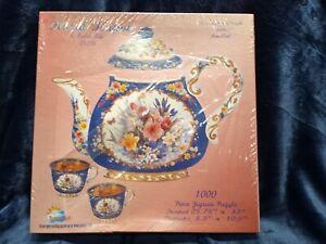 Floral Teapot Puzzle #05208 Lena Lui Art by Sunsout 1000 Piece NEW Sealed