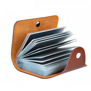New PU Leather 24 Bits Card Case Business Card Holder Unisex ID Credit Card Pack