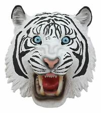 "Ebros Resin Roaring White Siberian Tiger Head Wall Decor Plaque Sculpture 8.5""H"