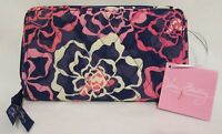 New! Vera Bradley Katalina Pink Accordion Wallet Floral Pattern Organizer Travel