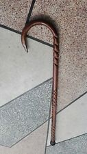 Nice DARK STAIN CROCUS Hardwood Walking, Combat and Self-defense Cane.