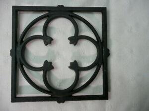 "Dansk Trivet Designed By Gunnar Cyren Black Cast Iron 7 x 7"" Black"