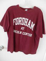 Fordham University Lincoln Center Tee T-Shirt, Maroon, XL
