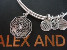 Alex and Ani BRIDESMAID Rafaelian Silver Charm Bangle New W/Tag Card & Box