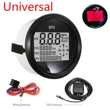 85mm Waterproof GPS Digital Speedometer Odometer Gauge For Car Truck Marine Boat