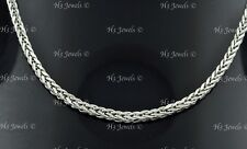 7.30 grams 14k solid white gold foxtail wheat chain necklace 20  inches #7575