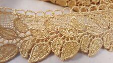 4.5cm- 1 meter Beautiful gold guipure venise lace trim edging for crafts decor