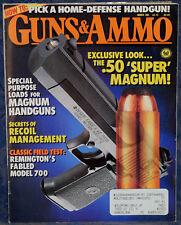 Magazine GUNS & AMMO March 1991 !!!MOSSBERG Model 590 Laser Sight INTIMIDATOR!!!