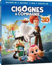 BLU RAY 3D + BLU RAY + DVD + DIGITAL HD ** CIGOGNES & COMPAGNIE **