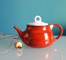 TEIERA vintage, anni 60, ceramica laccata, colore arancione e bianco.