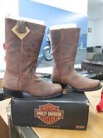 NEW Harley Davidson Mens Leather Boots Shoes Medium Brown Dartner