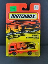 1996 Matchbox #23 Volvo Container Truck Fast Lane Diecast Neon Car Vintage New