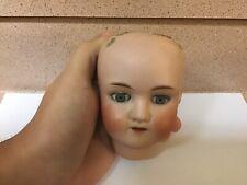 Antique German Bisque Doll Head Walkure 0 1/2 43 4 Inches Tall