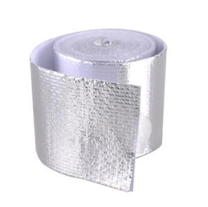 """1 Roll Adhesive Reflective Silver High Temperature Heat Shield Wrap Tape 2""""x15ft"""
