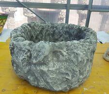 Lavello lavabo lavandino mortaio  vasca pietra cemento marmo rustico moderno