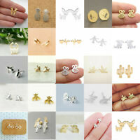 New Fashion Women's Girl 925 Silver Sterling Earrings Cute Ear Stud Jewelry Gift