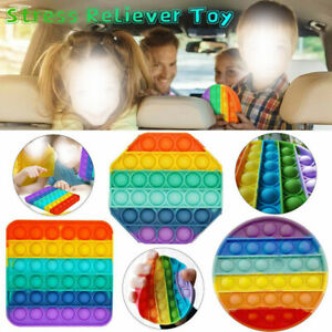 Push Bubble Pop it Sensory Fidget Toy Stress Relief Special Need Tiktok Game