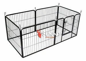 HEAVY DUTY PUPPY PLAY PEN 6-PIECE RABBIT ENCLOSURE WHELPING BOX