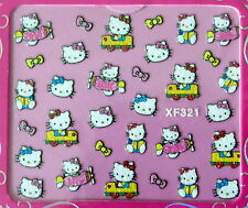 Nail art stickers bijoux d'ongles: petits chats avions voitures