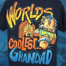 vintage 90s WORLD'S COOLEST GRANDAD CARTOON T-Shirt LARGE old joke dad rock thin