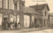 CARTE POSTALE BUREAU DE TABAC TILLE MAISON DAVESNE