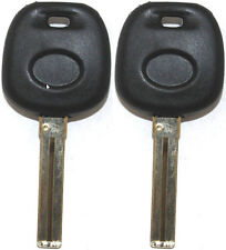 2 NEW LEXUS HIGH QUALITY TRANSPONDER CHIPPED UNCUT MASTER KEY BLANK - 4D68 CHIP
