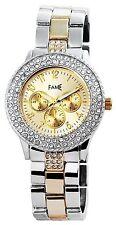 Hombres Reloj De Pulsera Dorado Plateado Metal Diamante S-50742406455599