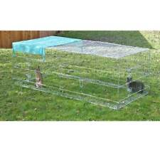 KERBL OUTDOOR ENCLOSURE WITH ESCAPE LOCK AND SUN PROTECTION SHIELD