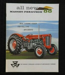 "1959 ""THE ALL-NEW MASSEY-FERGUSON MF 88 TRACTOR"" CATALOG BROCHURE VERY NICE"