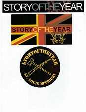 STICKER - Lot of 3 Story Of The Year Metal Music Decals  SA45a