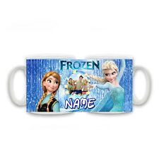 Personalised Name & Photo Frozen Anna and Elsa Mug, Size 11oz, special gift