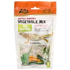 Zilla Reptile Munchies - Vegetable Mix With Calcium Neww