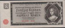 BOhemia & Moravia  50 Korun  12.5.1940 P 5s Specimen  Uncirculated Banknote
