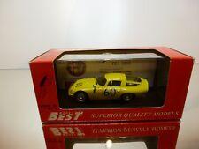 BEST  9061 ALFA ROMEO TZ1 1965 TARGA FLORIO #60 - YELLOW 1:43 - EXCELLENT IN BOX