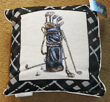Hole in One Golf Bag & Clubs ~ Golfer Tapestry Square Pillow