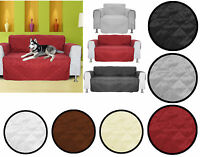 Quilted Sofa Chair Settee Armchair Pet Protector Slip Cover Furniture Throw Mess