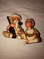 Shalt & Pepper Shaker Old Man And Woman art deco