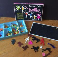 Vintage Fuzzy Felt - Ballet Box & Board w/ Mixed Content (Animals etc See Photos