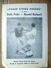 1965 DUKLA PRAHA v HONVED BUDAPEST, 3 November