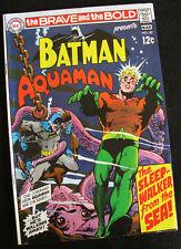BRAVE AND THE BOLD #82 (1967) BATMAN & AQUAMAN! NEAL ADAMS! HIGHER MID-GRADE.